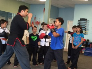 Kids Kung Fu Martial Arts Sparring Kickboxing Program