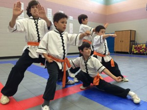 Kids Kungfu Young Warrior Program Demo Team in Cypress, TX