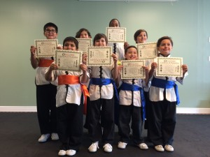 Kids KungFu Martial Arts Rank Testing October 2015