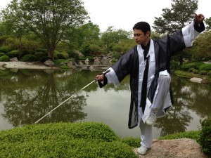 Master Blue Tai Chi Straight Sword Houston TX